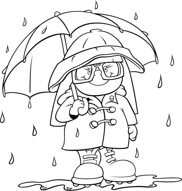 raindrop coloring pages - rain coloring pages only coloring pages