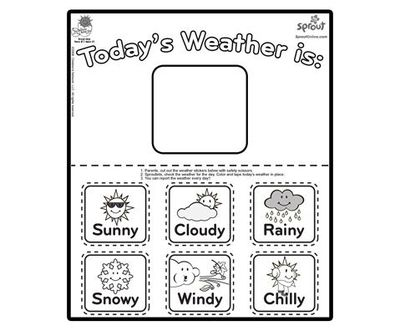 rain coloring pages for preschoolers