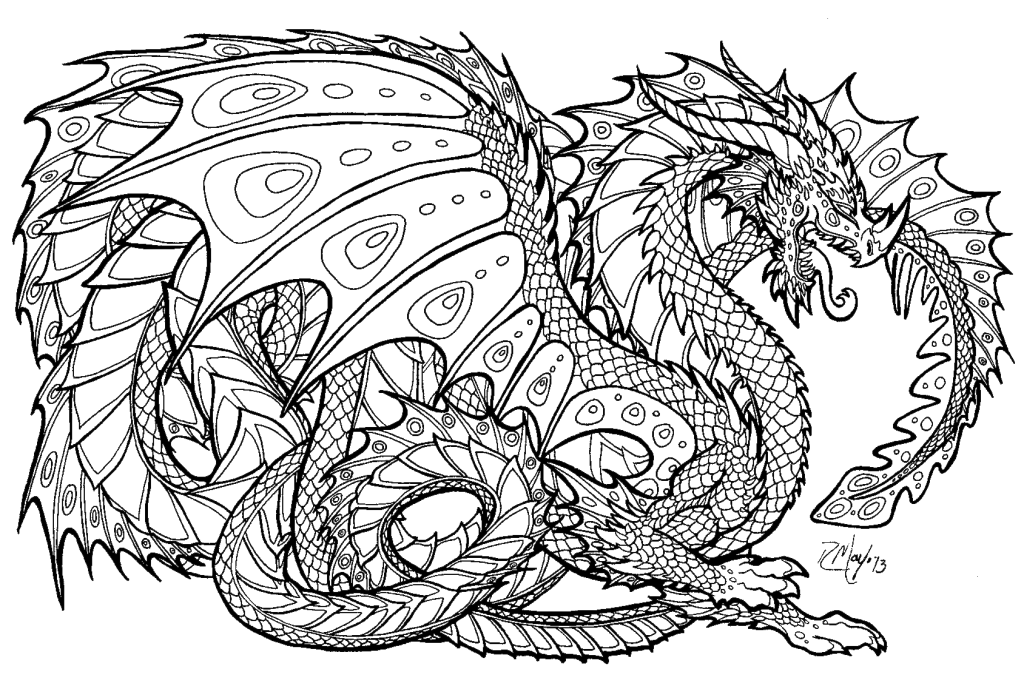 lion coloring pages realistic dragons - photo #8