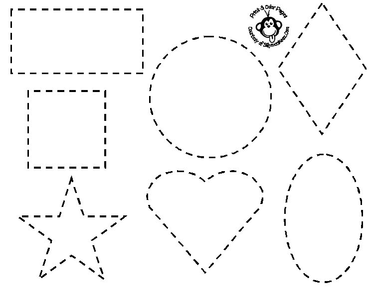 shape tracing templates shapes coloring pages for preschoolers pinterest shapes