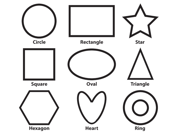 Shapes coloring pages for preschoolers only coloring pages for Shape tracing templates