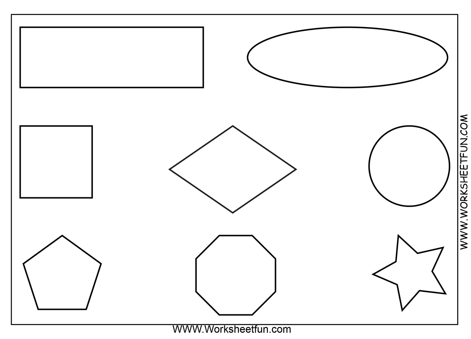 Shapes coloring pages for preschoolers only coloring pages for Color by shape coloring pages