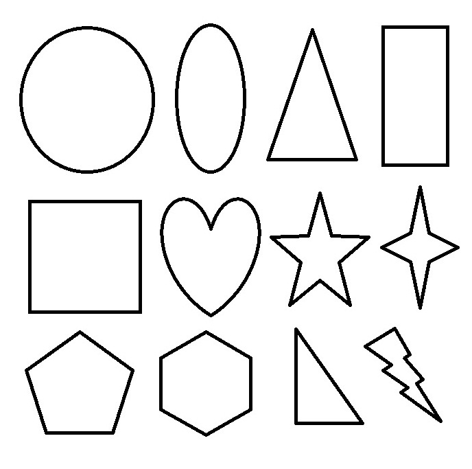 Coloring Pages For Preschoolers PINTEREST Shapes