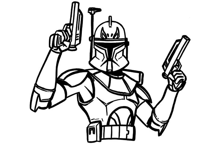 Star Wars Coloring Pages Captain Rex 01