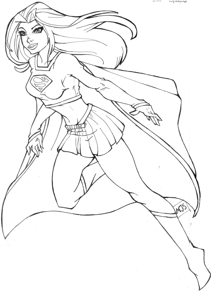 supergirl coloring pages Only Coloring Pages