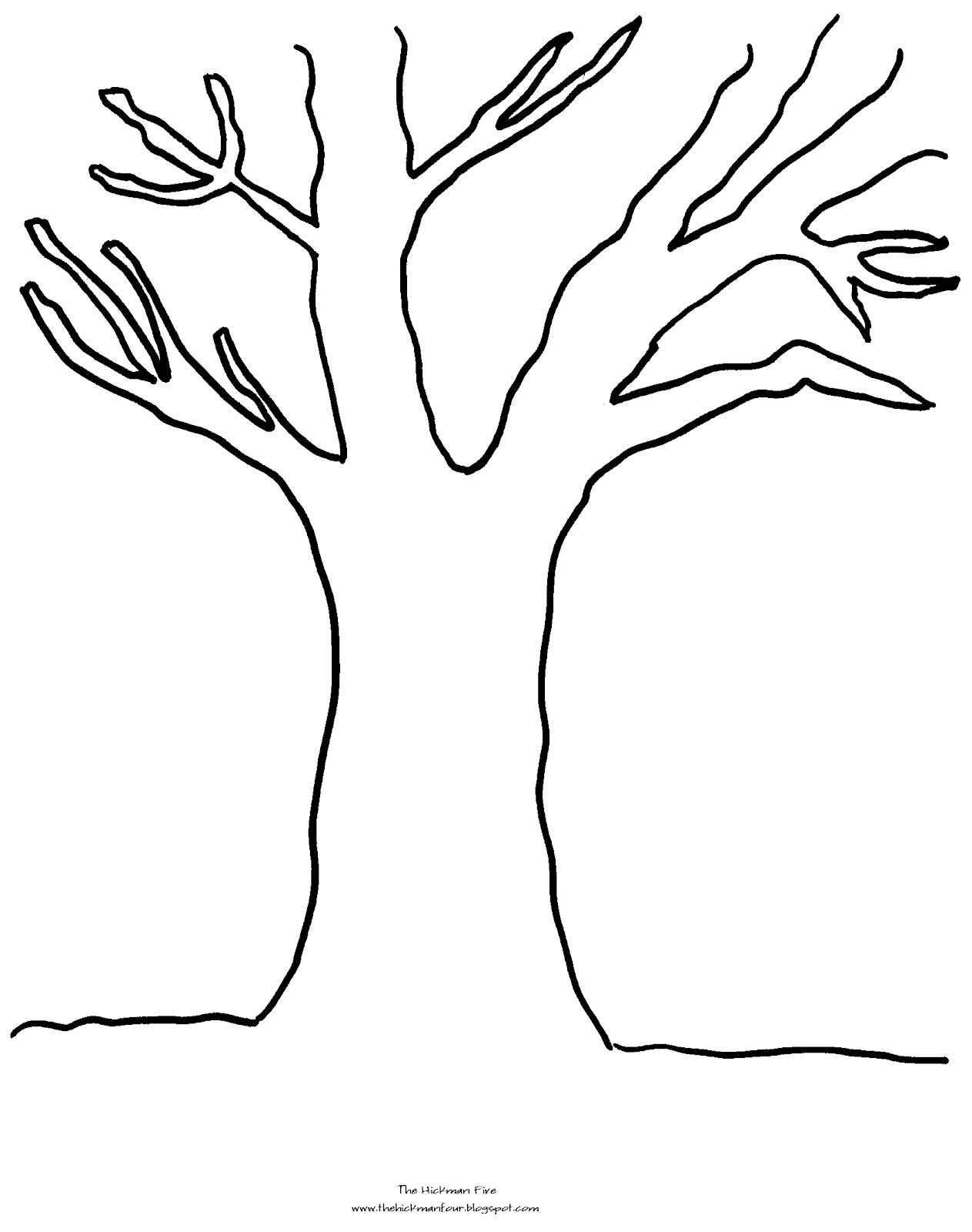 tree coloring pages fall 01