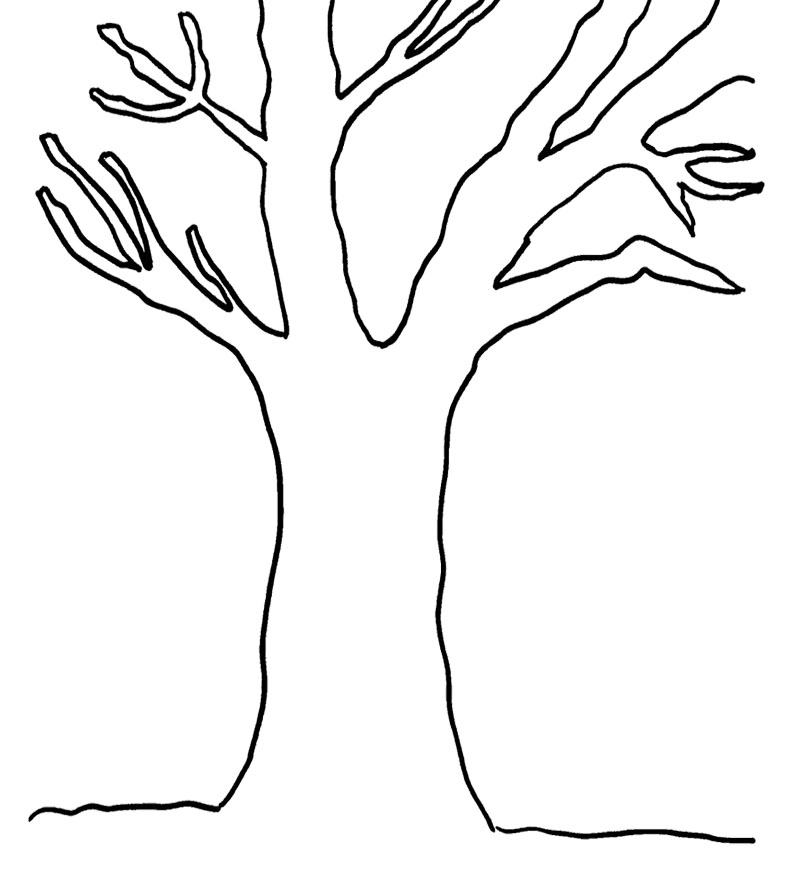Tree Coloring Pages To Print 01