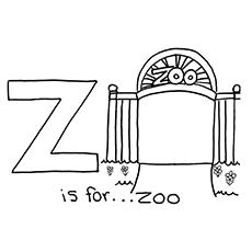 z strap coloring pages