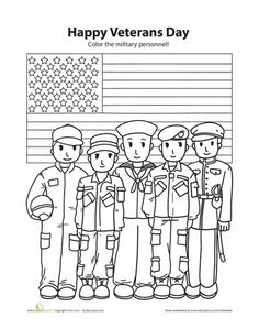Veterans Day Coloring Page Futpal