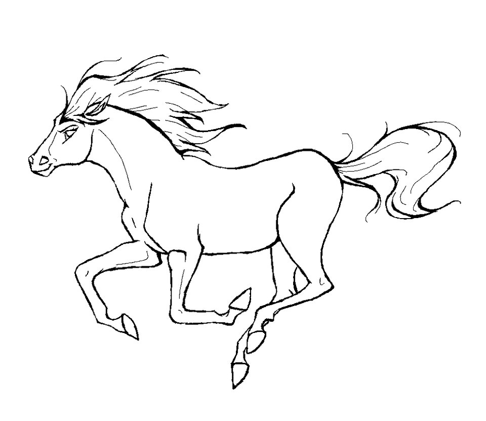 horse coloring page 07