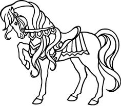 horse coloring page 09