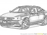 Jetta Car Coloring Page