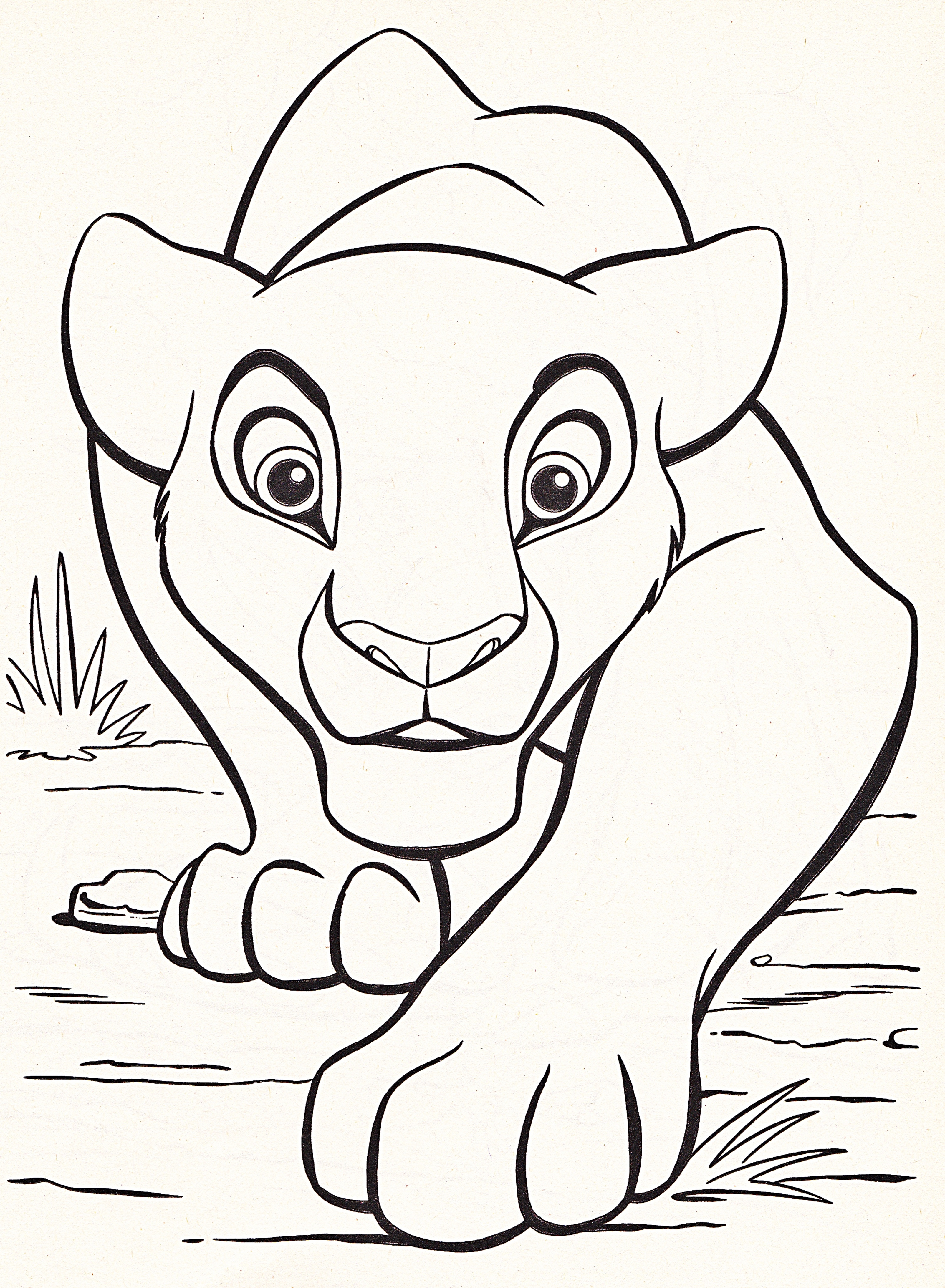 LARGE Disney Coloring Pages