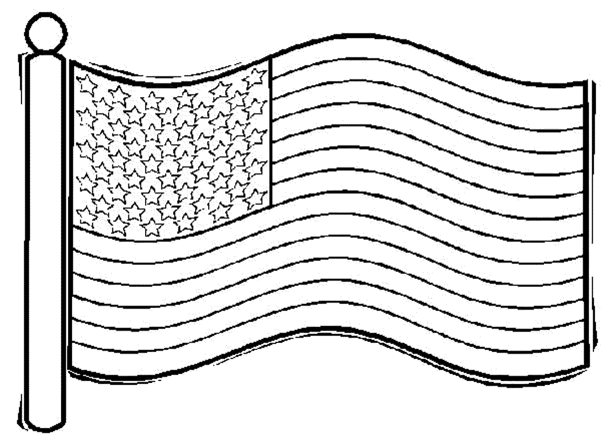 United States Flag Coloring Page 01