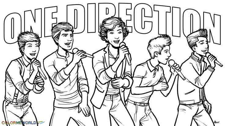 1D Coloring Pages One Direction Coloring Pages
