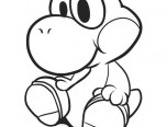Baby Yoshi Coloring Pages #1