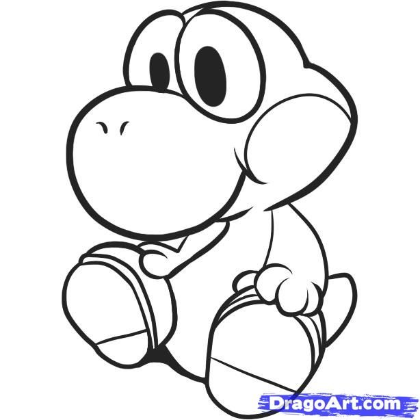 coloring pages yoshi - baby yoshi coloring pages 1 only coloring pages