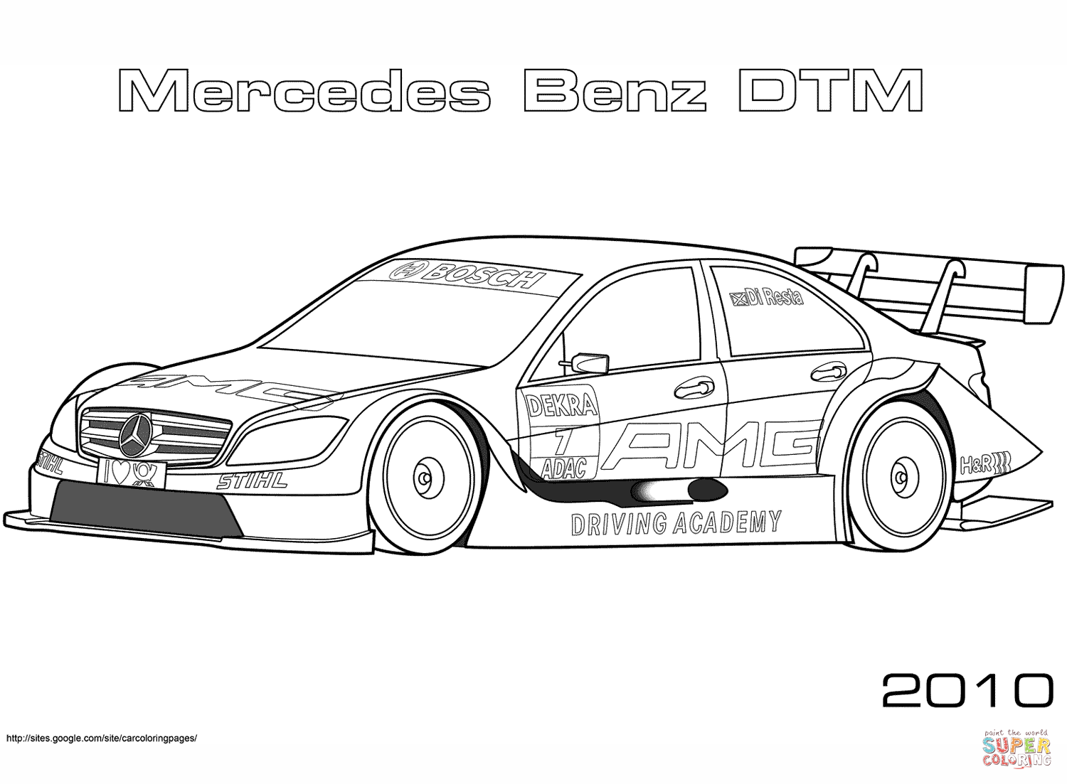 Mercedes Cars Coloring Pages