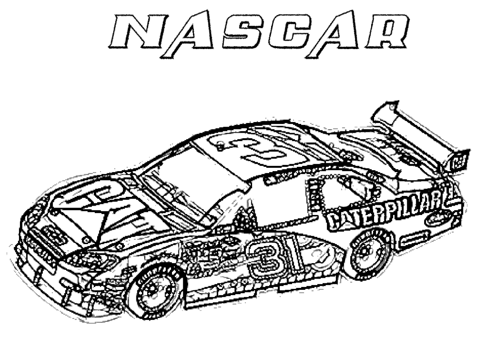 Nascar Race Car Coloring Pages 01