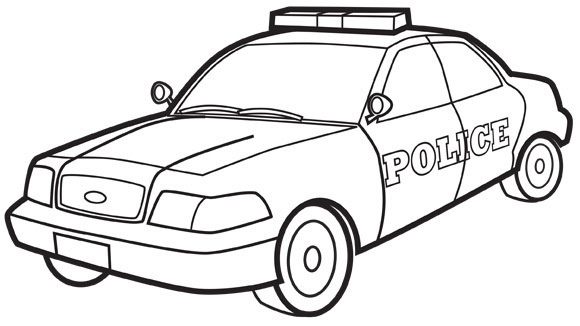 POLICE_CAR_COLORING_PAGES