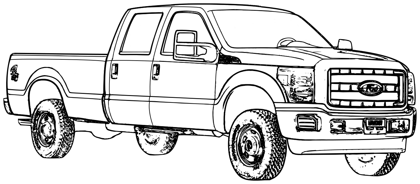 Ford Pickup Truck Coloring Page