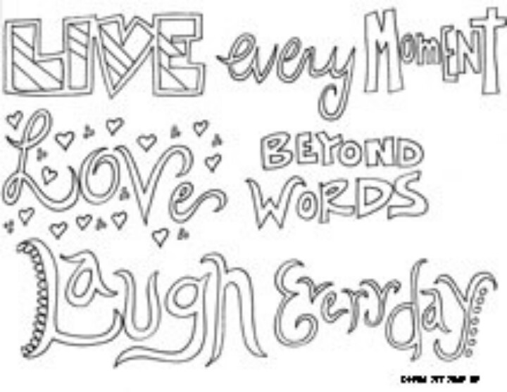 Teen Quote Coloring Pages 1