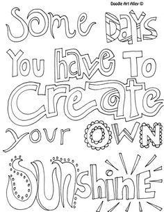 Teen Quote Coloring Pages