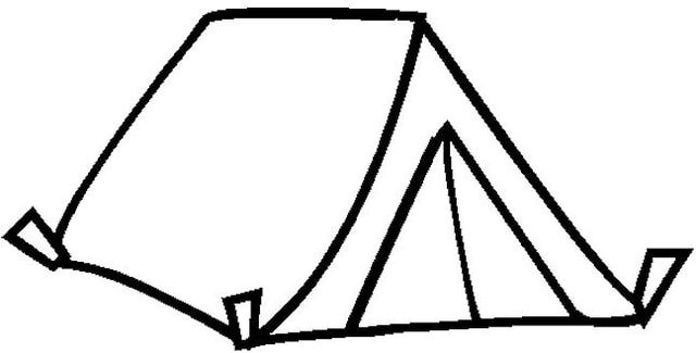 Tent Coloring Sheets