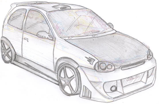 Golf gti car coloring page