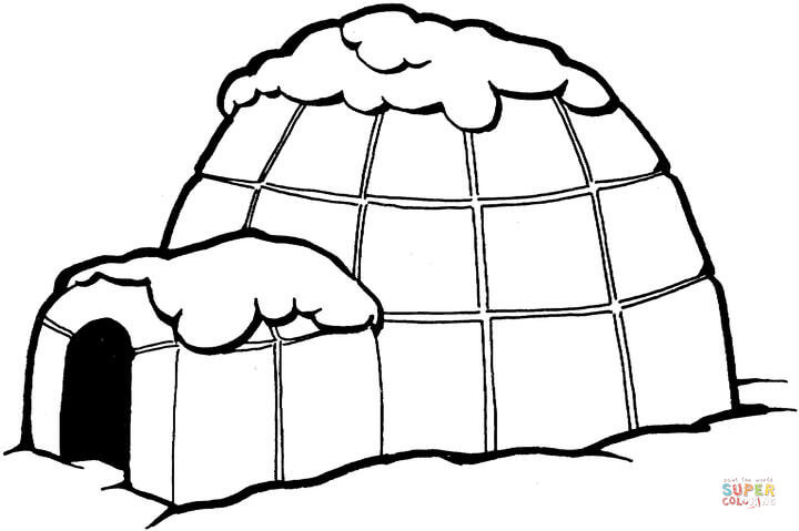 igloo coloring pages 01