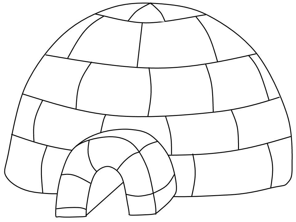 igloo coloring pages 02