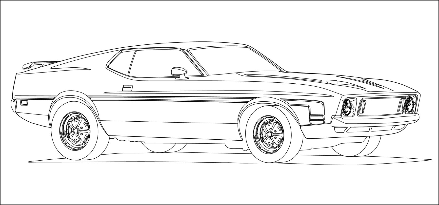 2011 Ford Mustang Coloring Pages 01