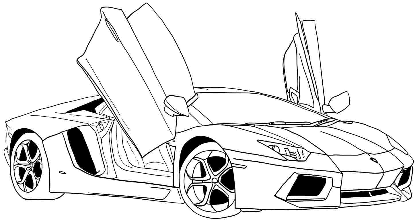 printabl sportcar coloring pages - photo#18