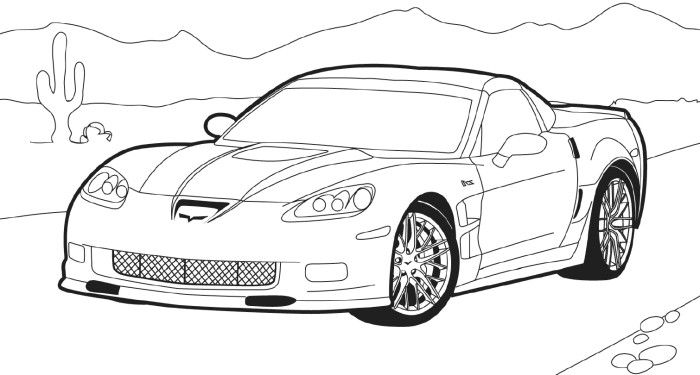 Corvette-Stingray-Coloring-Pages