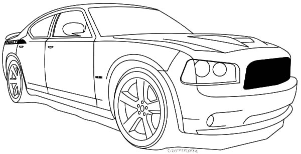 Dodge Charger Coloring Pages 01