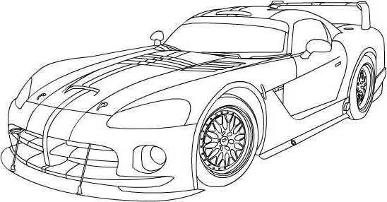 Dodge Viper Coloring Pages 01