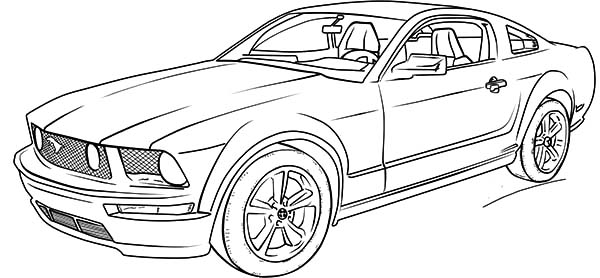 Coloring Pages Mustang Car : Top car coloring pages pinterest