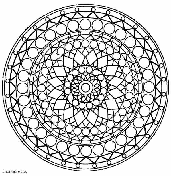 Geometric Kaleidoscope Coloring Pages