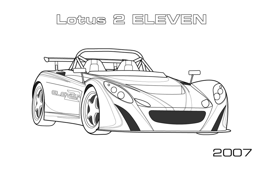 Lotus Car Coloring Pages 01