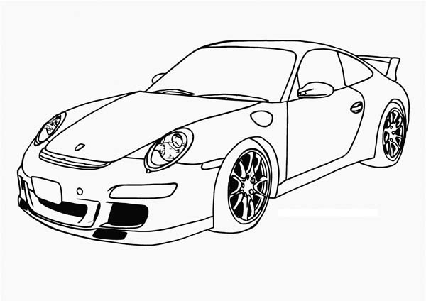 Porsche Coloring Pages