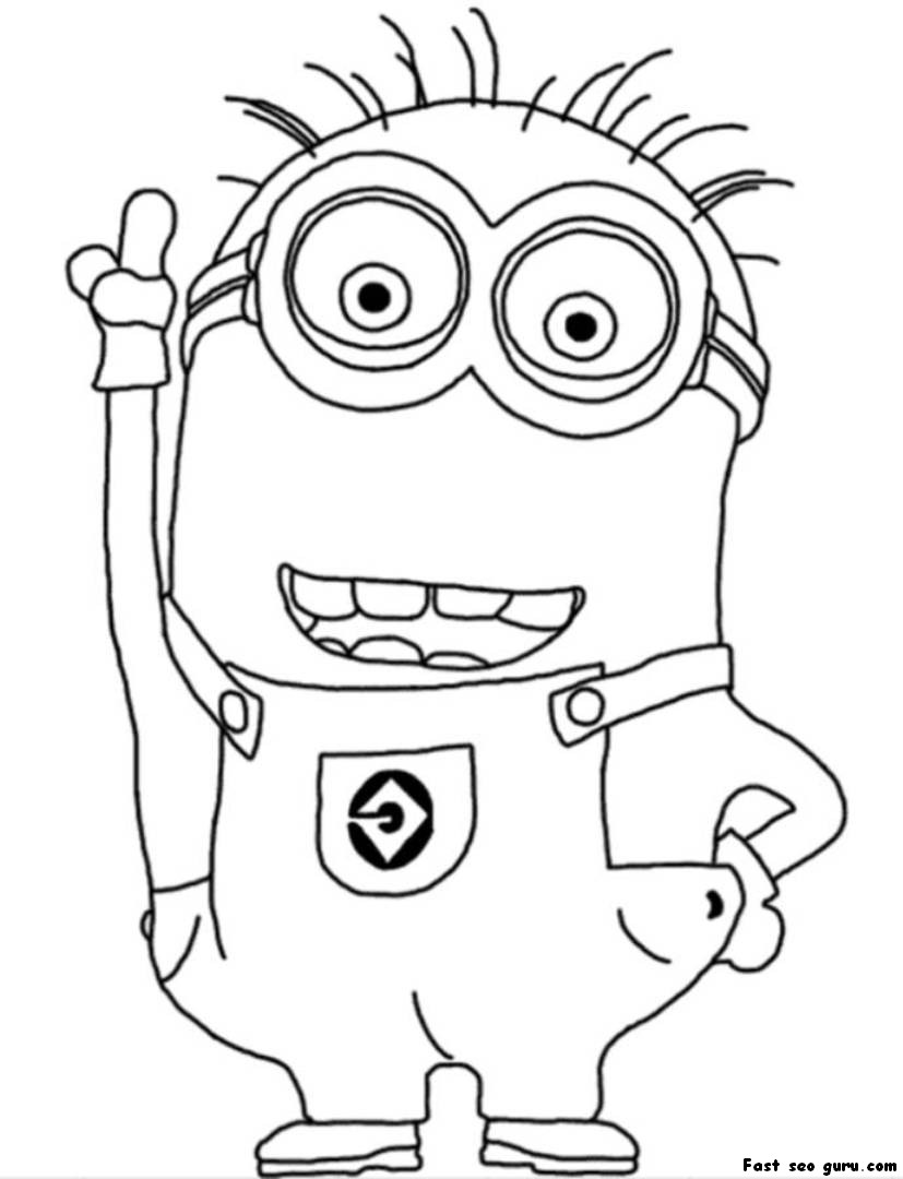 cute despicable me coloring pages - photo#1