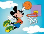 mickey mouse basketball coloring page