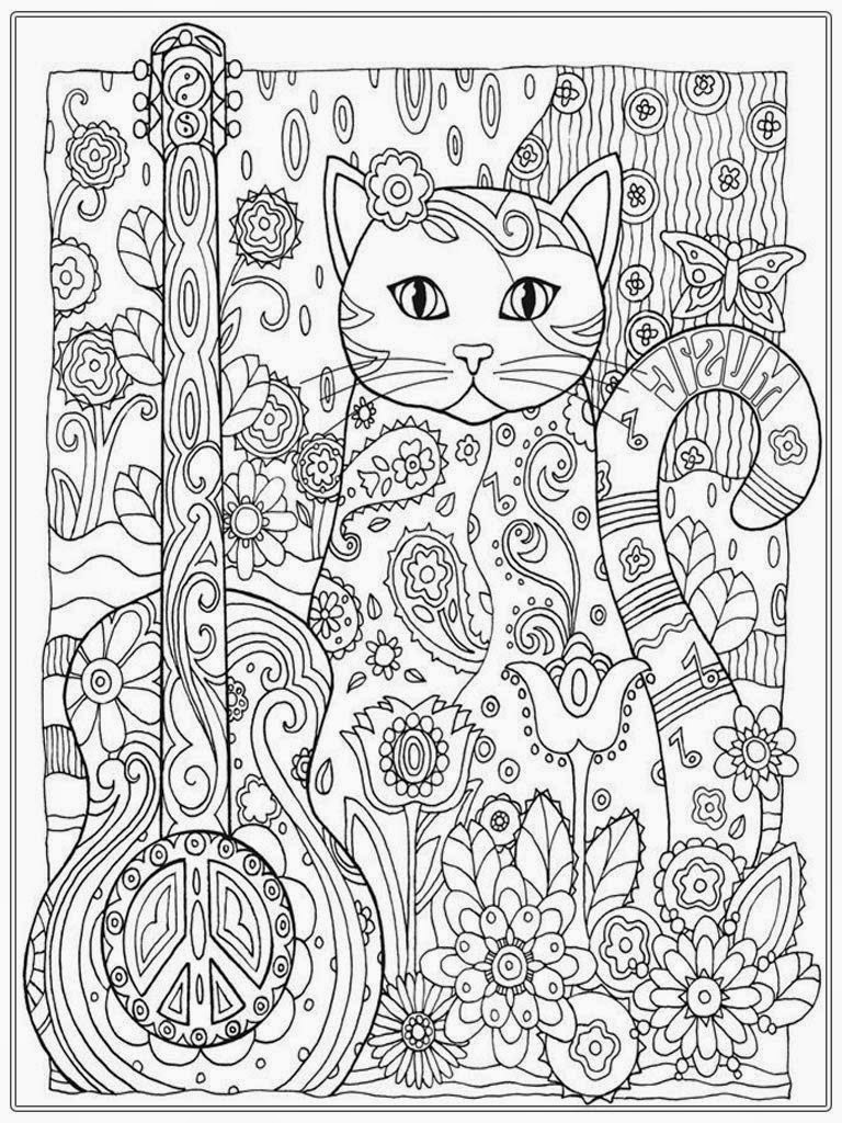 Cat coloring pages for adults only coloring pages Coloring books for young adults