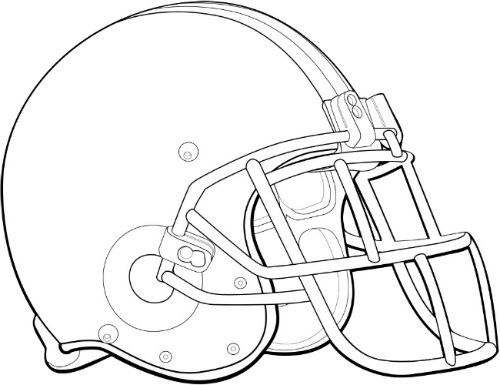 Football Helmet Coloring Page 01