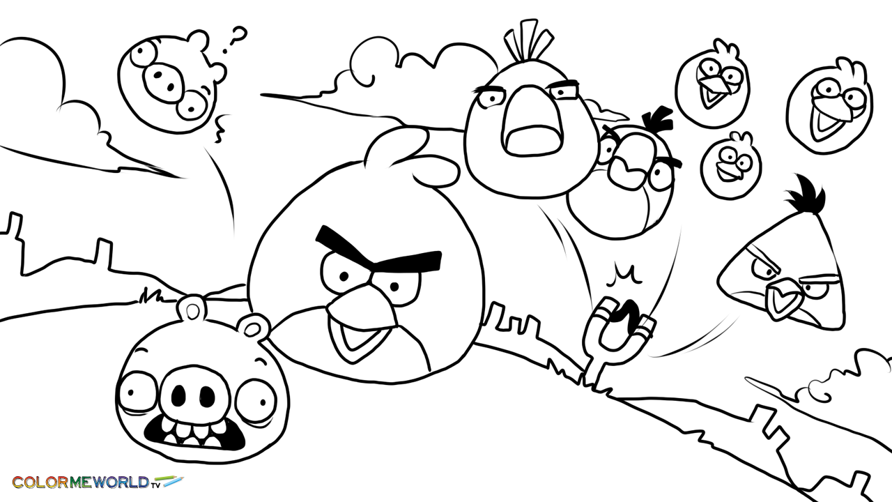 Angry Birds Coloring Pages