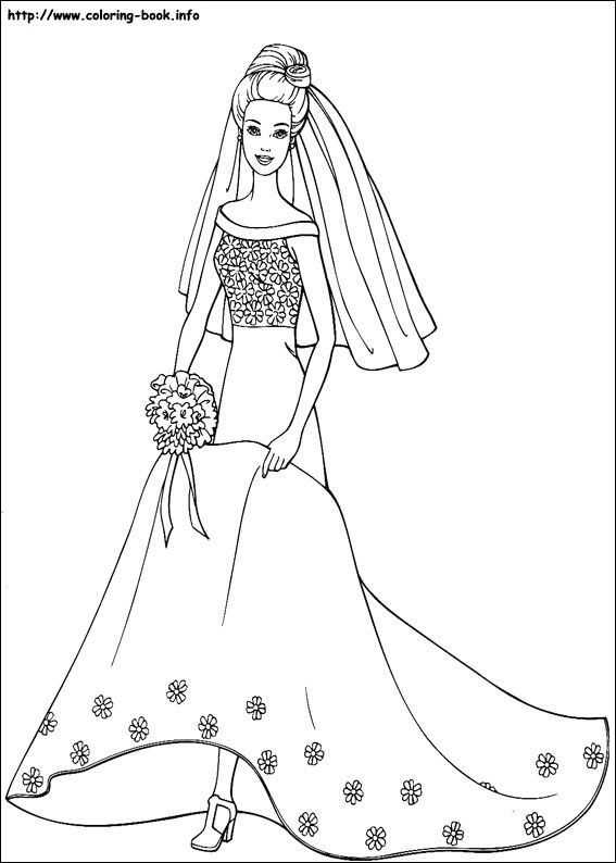 Barbie Coloring Pages 01