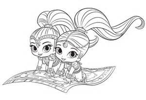 Shimmer and Shine Coloring Pages 01