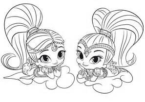 Shimmer and Shine Coloring Pages 04