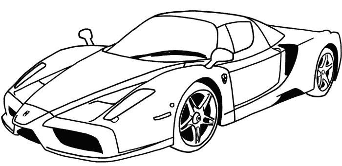 Ferrari Car Coloring Pages 01
