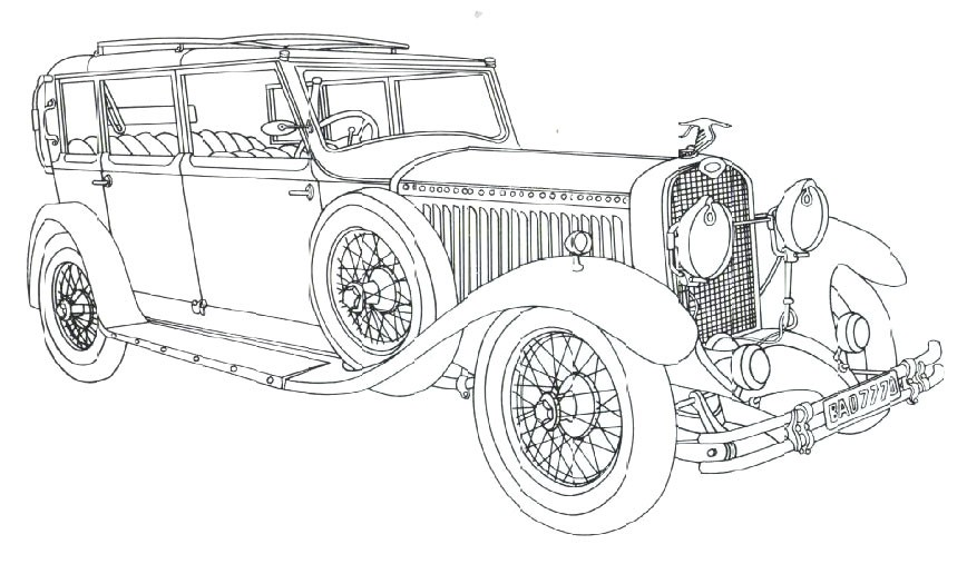Vintage Car Coloring Pages Free